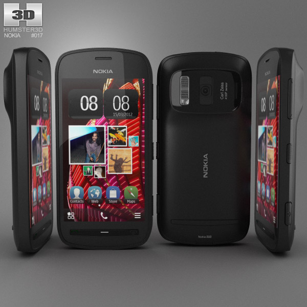 Nokia 808 PureView 3d model