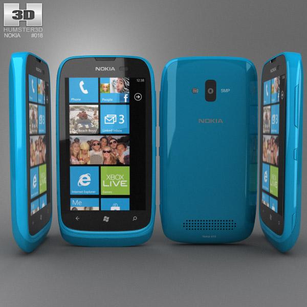 Nokia Lumia 610 3d model