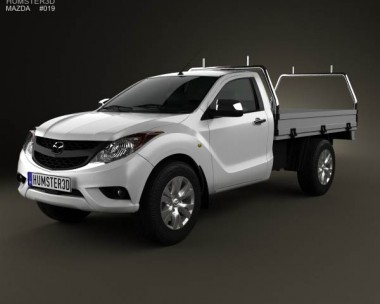 3D model of Mazda BT-50 Single Cab 2012