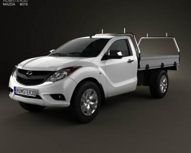 3D model of Mazda BT-50 Single Cab 2012
