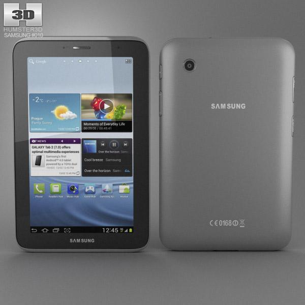 Samsung Galaxy Tab 2 3d model