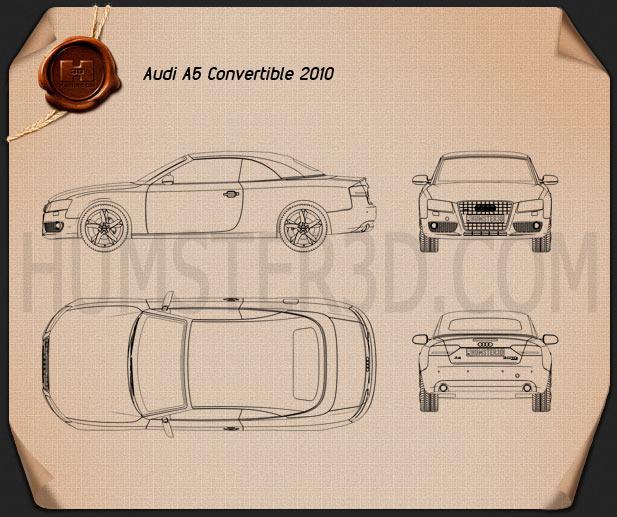Audi A5 Convertible 2010 Blueprint