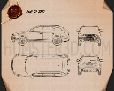 Audi Q7 2010 Blueprint