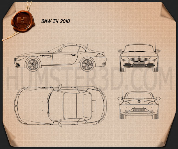 BMW Z4 2010 Blueprint