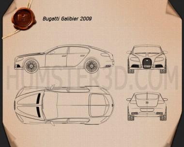 Bugatti Galibier 2009 Blueprint
