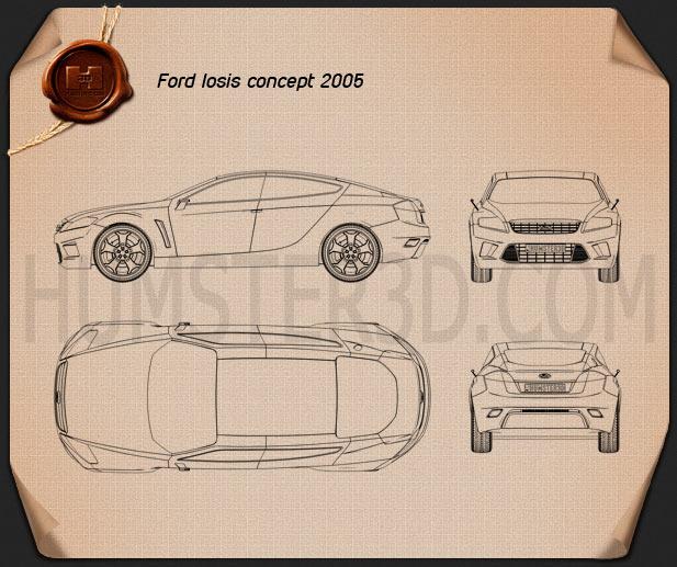 Ford Iosis Concept 2005 Blueprint