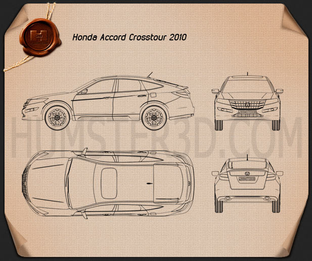 Honda Accord Crosstour 2010 Blueprint