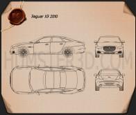 Jaguar XJ (X351) 2010 Blueprint
