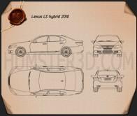 Lexus LS (XF40) 600h 2010 Blueprint