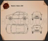 Mazda Demio (Mazda2) 5-door 2010 Blueprint
