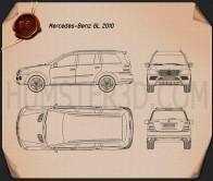 Mercedes-Benz GL-Class 2010 Blueprint