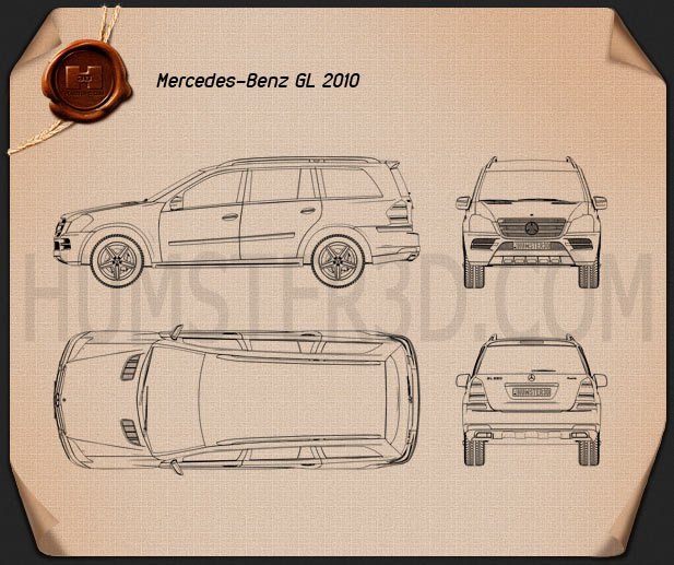 Mercedes-Benz GL-Class 2010 Blueprint