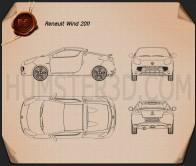 Renault Wind 2010 Blueprint