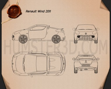 Renault Wind 2010 Blueprint