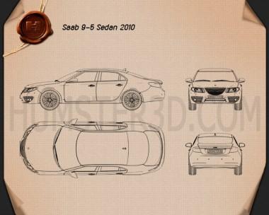 Saab 9-5 2010 Blueprint