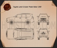 Toyota Land Cruiser Prado 5-door 2010 Blueprint