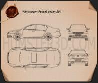 Volkswagen Passat 2011 Blueprint