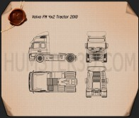Volvo Tractor FM 2010 Blueprint