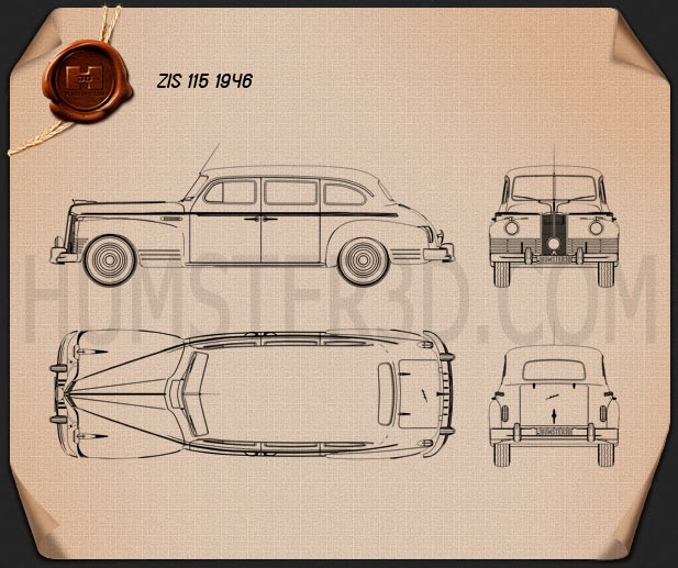ZIS 115 1946 Blueprint