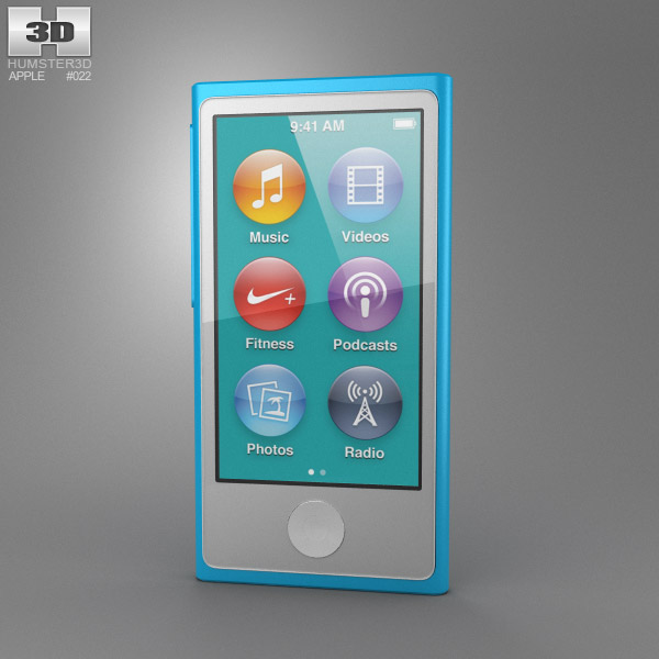 apple ipod nano 5th generation 3d model electronics on hum3d. Black Bedroom Furniture Sets. Home Design Ideas