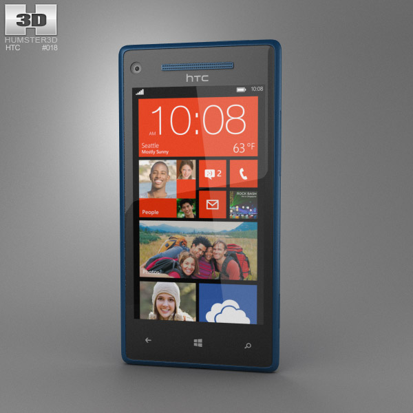 HTC 8X California Blue 3d model