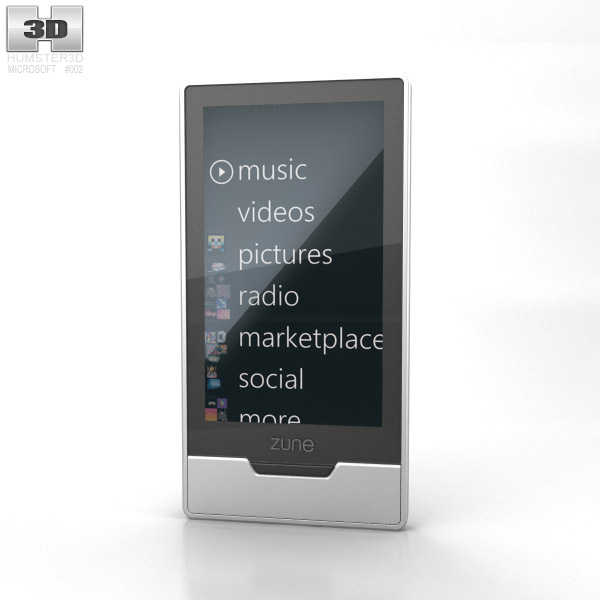 Microsoft Zune HD 32 GB 3d model