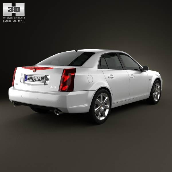 Cadillac BLS sedan 2009 3d model