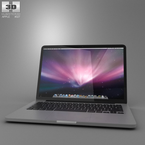 MacBook Pro Retina display 13 inch 3d model
