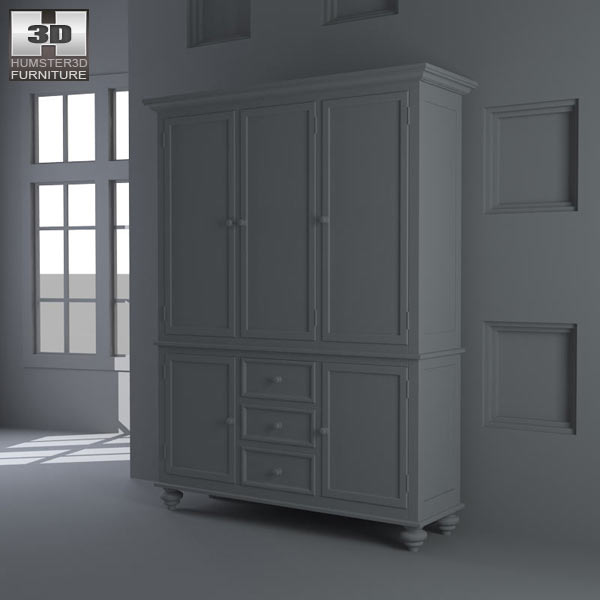 Black Camden China Cabinet – Lea American Drew 3d model