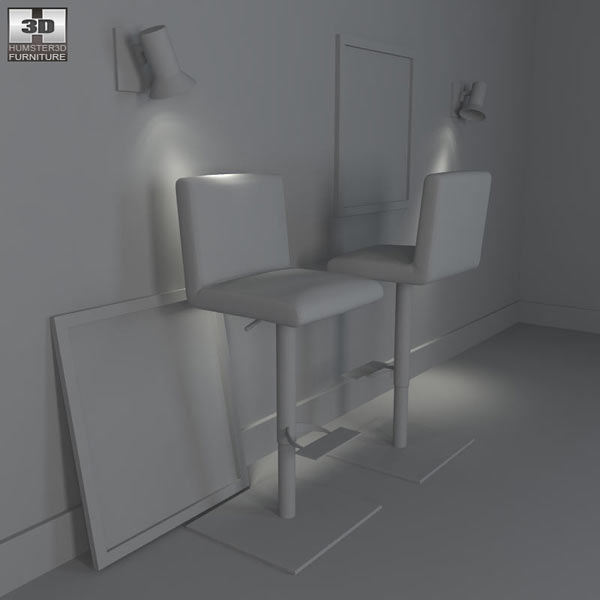 Georgio Barstool – Bellini Modern Living 3d model