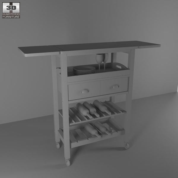 "Julia ""Espresso"" Kitchen Cart 3d model"