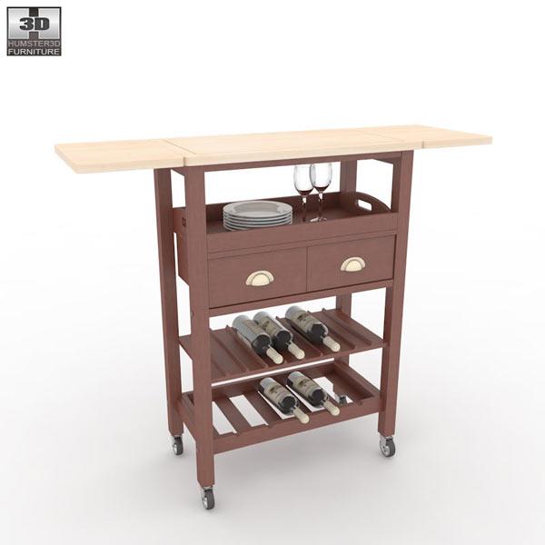 Julia Espresso Kitchen Cart 3d Model Hum3d