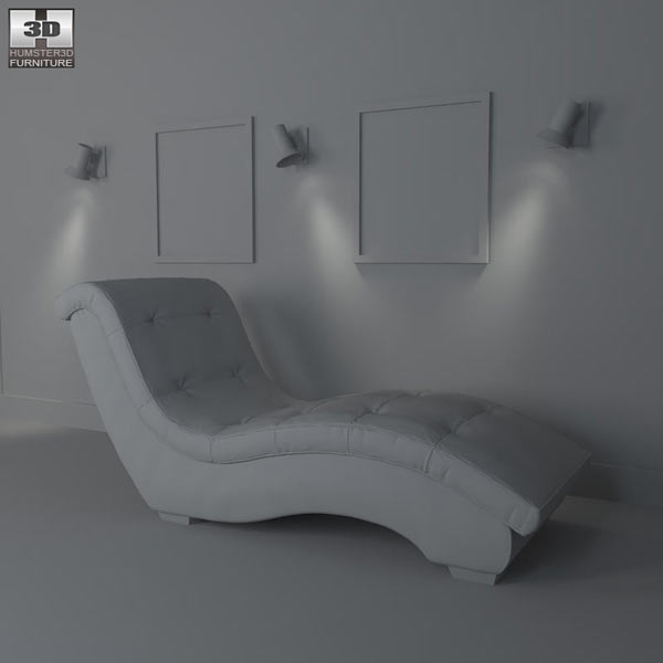 Metro Chaise Lounge – Diamond Sofa 3d model