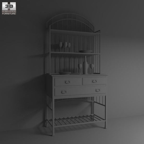 Oak Hill Buffet Server 3d model