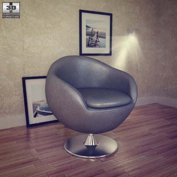 Occasional Chair – Bounce Armchair 3d model