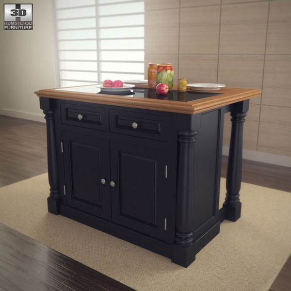 Monarch Kitchen Island 3d model