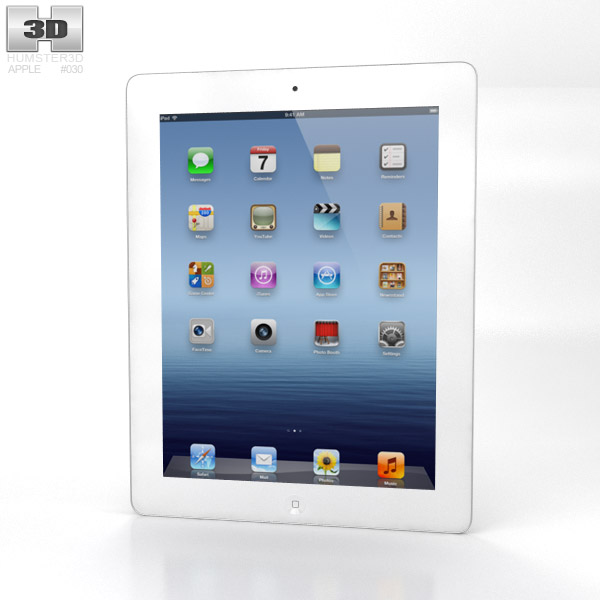 Apple iPad 4 WiFi 3d model