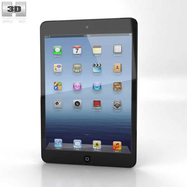 Apple iPad Mini Cellular 3d model