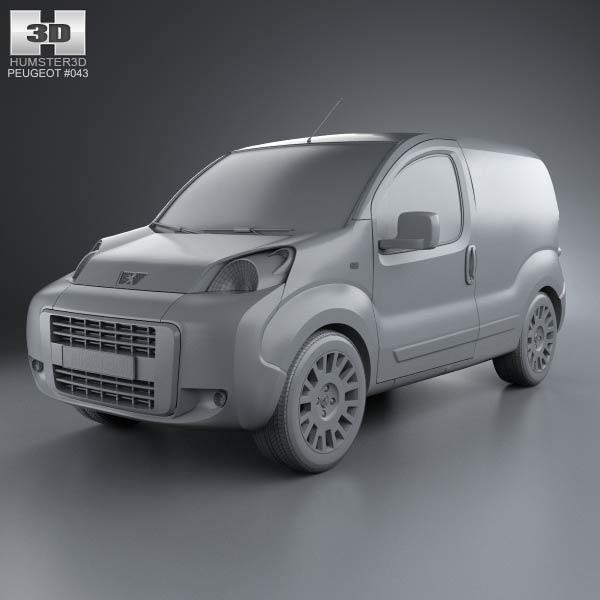 peugeot bipper panel van 2011 3d model hum3d. Black Bedroom Furniture Sets. Home Design Ideas