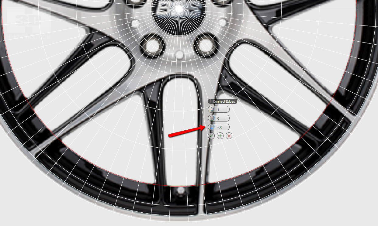 How to make a car rim in 3ds max tutorial hum3d blog now leave 10 segments per one arm we advise you to start with an arm which is looking at six oclock because it is straight and it will be easy to work malvernweather Choice Image