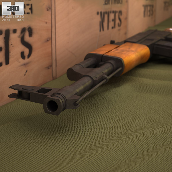 AK-47 with bayonet 3d model