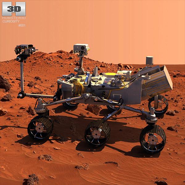 Curiosity Mars Rover 3D model - Hum3D