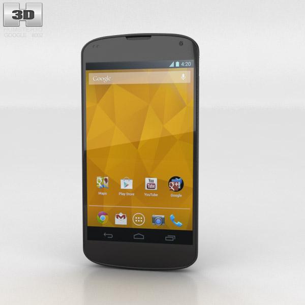 Google Nexus 4 Black 3d Model Hum3d