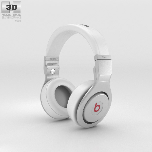 Beats by Dr. Dre Pro White 3d model