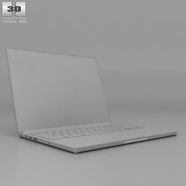 Google Chromebook Pixel 3d Model Hum3d