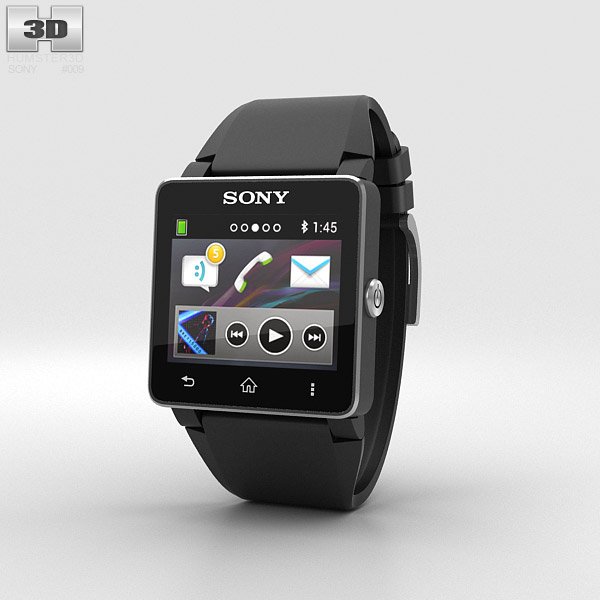 Sony Smartwatch 2 3d model