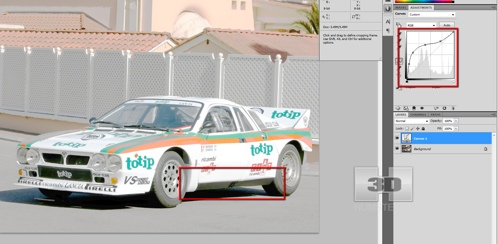 Lancia Rally Car 3d modeling tutorial 8