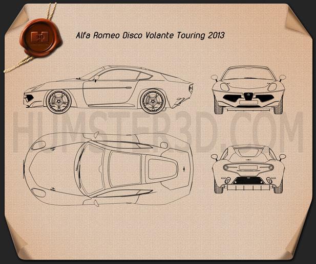 Alfa Romeo Disco Volante Touring 2013 Blueprint