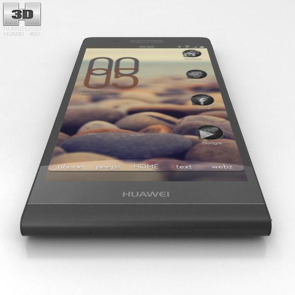 Huawei Ascend P6 Black 3D model - Hum3D