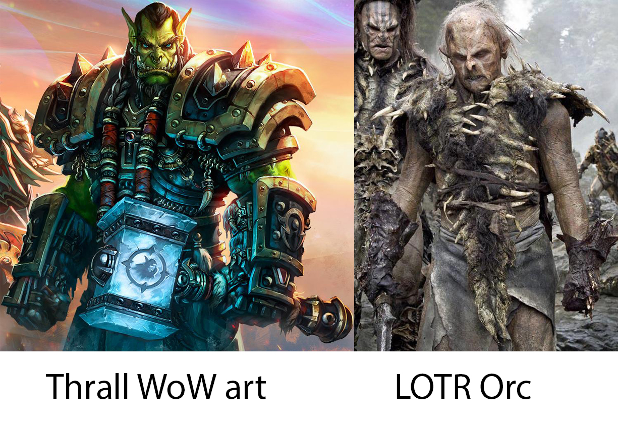 Warcraft ork and LOTR